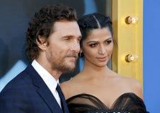 Matthew McConaughey и Camila Alves стоковые изображения