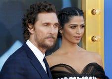 Matthew McConaughey и Camila Alves стоковое изображение