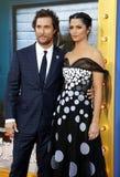 Matthew McConaughey и Camila Alves стоковая фотография rf