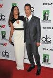 Matthew McConaughey & Camila Alves Arkivbild