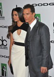 Matthew McConaughey & Camila Alves Arkivfoton