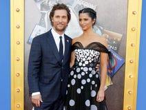 Matthew McConaughey и Camila Alves Стоковое Изображение RF