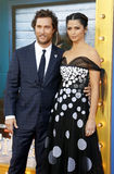 Matthew McConaughey and Camila Alves Stock Images