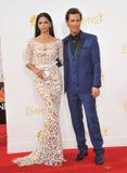 Matthew McConaughey & Camilla Alves. LOS ANGELES, CA - AUGUST 25, 2014: Matthew McConaughey & Camilla Alves at the 66th Primetime Emmy Awards at the Nokia Stock Image