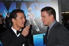 Matthew McConaughey, Channing Tatum llega   fotos de archivo libres de regalías