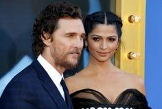 Matthew McConaughey och Camila Alves royaltyfria bilder