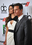 Matthew McConaughey u. Camila Alves Lizenzfreie Stockbilder