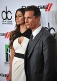 Matthew McConaughey y Camila Alves Imágenes de archivo libres de regalías
