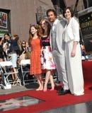 Matthew McConaughey y Mackenzie Foy y Jessica Chastain y Anne Hathaway Fotos de archivo libres de regalías