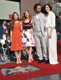 Matthew McConaughey y Mackenzie Foy y Jessica Chastain y Anne Hathaway Imagenes de archivo