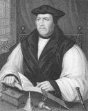 Matthew Parker. (1504-1575) on engraving from the 1800s. Archbishop of Canterbury during 1559-1575. Engraved by W.Holl and published by the London Printing and Royalty Free Stock Images