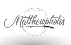 Matthew Personal Photography Logo Design with Photographer Name. Matthew Personal Photography Logo Design with Photographer Name and Handwritten Letter Design Royalty Free Stock Photos