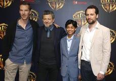 Matthew Rhy, Benedict Cumberbatch, Rohan Chand και Andy Serkis Στοκ φωτογραφία με δικαίωμα ελεύθερης χρήσης