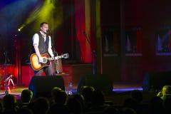 Matthew Ryan. Singer-songwriter Matthew Ryan in concert in the theater Stock Photo