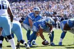 Matthew Stafford Detroit Lions royalty-vrije stock foto's