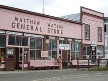 Matthew Watson Ogólnego sklepu â€' Carcross, Alaska zdjęcie royalty free