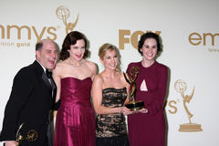 Matthew Weiner, Joanne Froggatt, Michelle Dockery Royalty Free Stock Photo