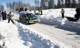 Matthew Wilson WRC Rally Sweden 2010 Stock Photography