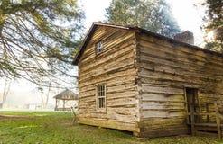 Matthews Cabin bij Mabry-Molen Royalty-vrije Stock Fotografie