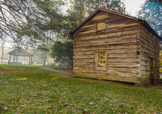 Matthews Cabin en el molino de Mabry Imagen de archivo libre de regalías