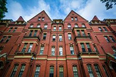 Matthews Hall, at Harvard University, in Cambridge, Massachusett Stock Images