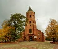 Matthews Kirche in Pabianice Stockbild
