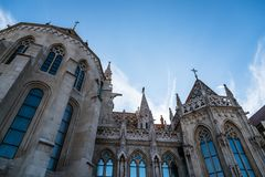 Matthias Church στη Βουδαπέστη μια ηλιόλουστη ημέρα του καλοκαιριού Στοκ Εικόνες