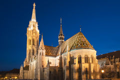 Matthias church. By night in Budapest, Hungary Stock Photography