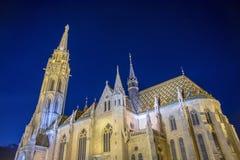 Matthias Church Church av vår dam av Buda, Budapest, Ungern royaltyfri fotografi
