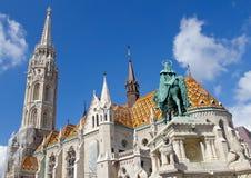 Matthias Church bij Buda Kasteel, Boedapest royalty-vrije stock afbeeldingen