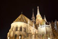 Matthias Church in Boedapest (Hongarije) Stock Foto's