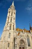 Matthias Church in Boedapest (Hongarije) Stock Afbeelding