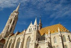 Matthias Church in Boedapest (Hongarije) Royalty-vrije Stock Fotografie