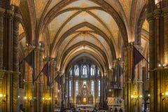Matthias Church - Boedapest - Hongarije Royalty-vrije Stock Foto