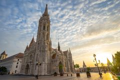 Matthias Church on the Buda bank of the Danube in Budapest city, Hungary.  stock photos