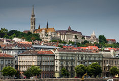 Matthias Church in Buda, Budapest downtwon Hungary. Buda Castle district and Matthias gothic style church, landmark of old city Budapest stock images