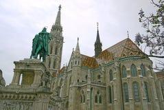 Matthias Church in Buda Castle, Boedapest HONGARIJE Royalty-vrije Stock Foto