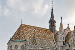 Matthias church in Buda Castle, Budapest, Hungary royalty free stock photos