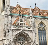 Matthias Church at Budapest city, Hungary. In summer Royalty Free Stock Images