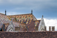Matthias Church in Budapest, Hungary in the center of Buda Castl Stock Photos