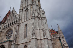 Matthias Church, Budapest, HUNGARY. Budapest, HUNGARY - OCTOBER 22, 2014: Matthias Church, It is one of the finest churches in Budapest, and the most unique Royalty Free Stock Photography