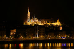 Matthias Church Budapest night Royalty Free Stock Photography