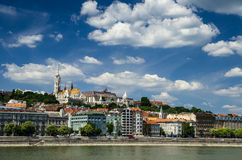 Matthias Church. Castle Hill in Budapest and Danube Royalty Free Stock Photo
