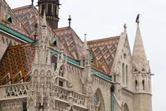 Matthias Church-Dach Stockbilder