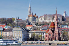 Matthias Church and Danube river, Budapest Stock Photography