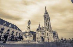Matthias Church - de bekronende kerk stock foto's