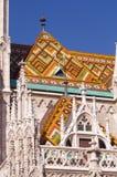 Matthias church details on roof Royalty Free Stock Photo