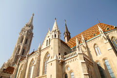 The Matthias Church in the Fisher Bastion Royalty Free Stock Photo