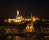 Matthias Church and Fisherman Bastion in Budapest Hungary - cityscape architecture background.  Stock Photo