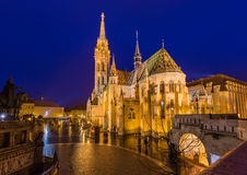 Matthias Church and Fisherman Bastion in Budapest Hungary Royalty Free Stock Photo